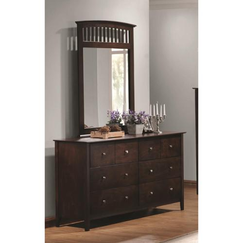 Double Oak Dresser & Mirror