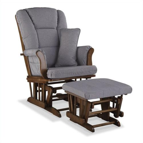 Stork Craft Custom Tuscany Glider & Ottoman-Color:Slate Gray,Finish:Dove Brown