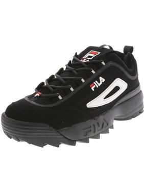 6d240bfd Product Image Fila Men's Disruptor Ii Black / White Red Ankle-High Walking  Shoe - 10M