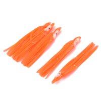 Unique Bargains 5 Pcs 2.2  Artificial Silicone Orange Fishing Lure Fish Tackle Bait 0.2oz