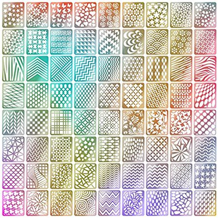 TOPBeauty 60 Pieces Nail Vinyls Stencil Stickers Set 5 Sheets 72 Different Designs Cute Easy