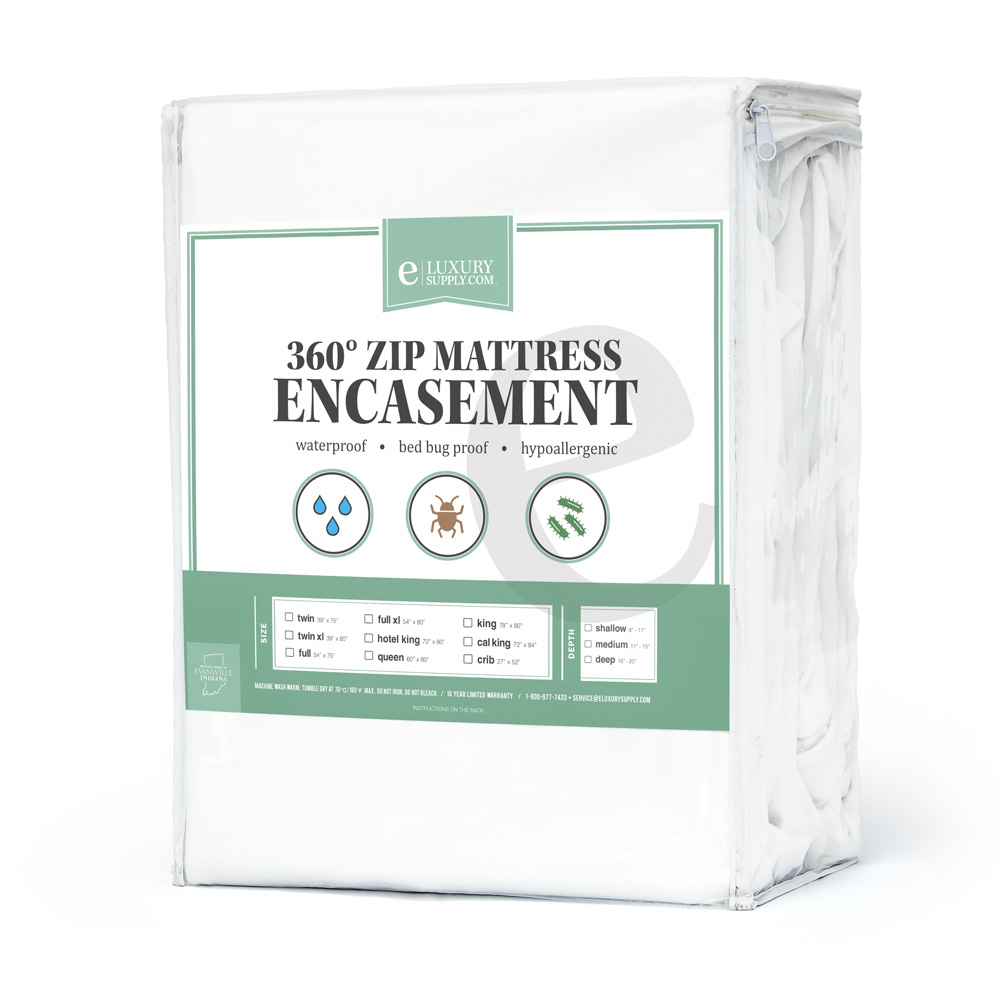 """360 Removable Top Mattress Encasement - Waterproof -- 10 Year Warranty- Bed Bug Protector by ExceptionalSheets, Crib, (5"""" - 7"""" Deep)"""