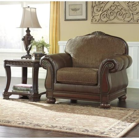 Beamerton Heights Chestnut Collection Two Tone Traditional Living Room Chair