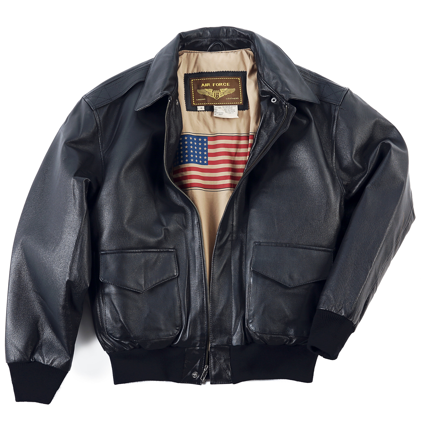 Landing Leathers Men's Air Force A-2 Leather Flight Bombe...