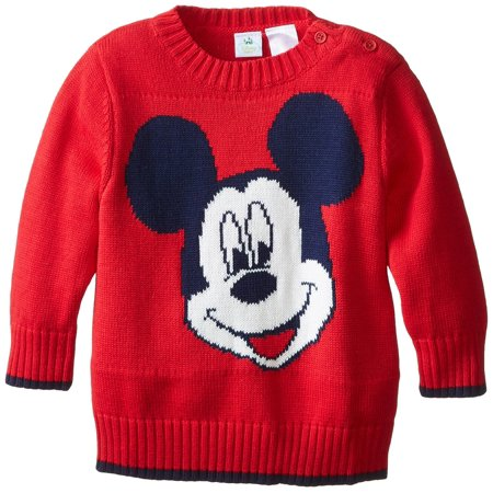 Disney Mickey Mouse Newborn Infant Toddler Boys Sweater Red