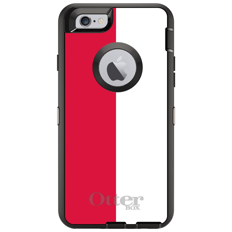 CUSTOM Black OtterBox Defender Series Case for Apple iPhone 6 PLUS   6S PLUS...