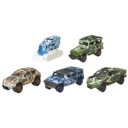 Matchbox Camo Truck 5 Pack (Styles May Vary) ()