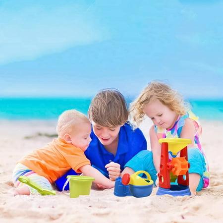 19 PCs Beach Sand Toys Set for Kids, Beach Bucket Beach Shovel Tool Kit, Sandbox Toys Toddlers F-129