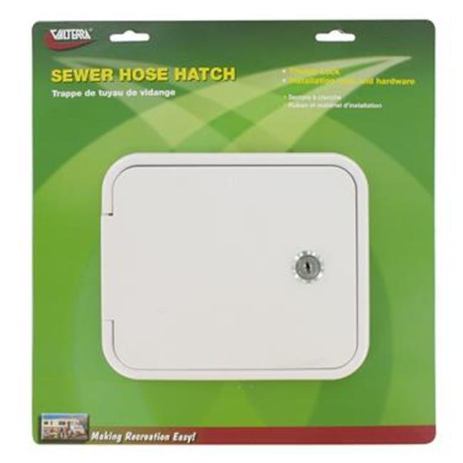 VALTERRA LLC D040471VP Sewer Hose Storage Carrier Door, White