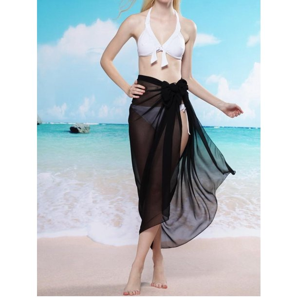 Sayfut Women S Long Sarong Wrap Plus Size Floral Beachwear Wrap Dress Bathing Suit Swimwear Swimsuit Cover Ups Pareo Skirt Walmart Com Walmart Com