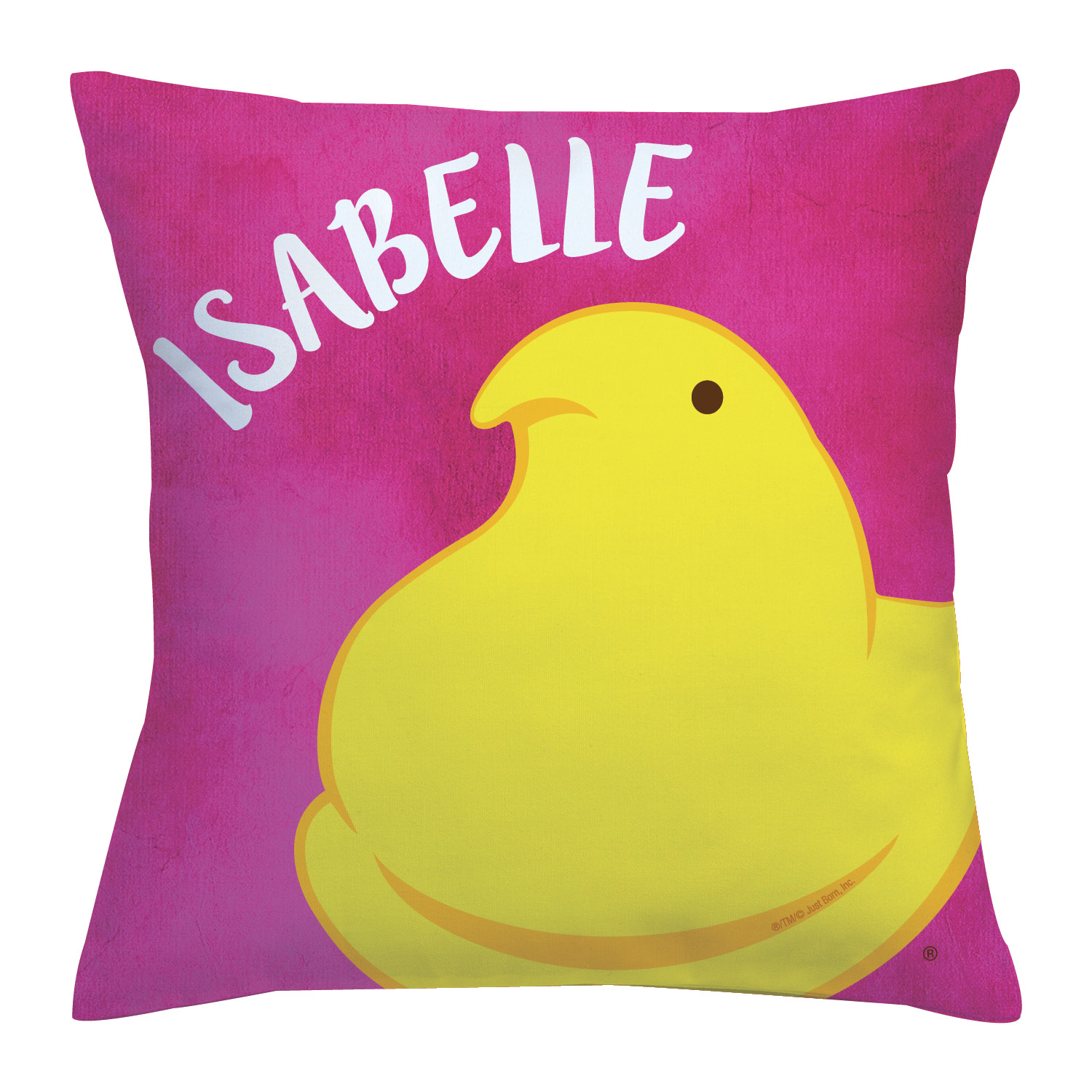 Personalized Peeps Chick Throw Pillow
