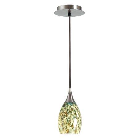 1 Light Mini Pendant Imperial (Kenroy Home Medici Brushed Steel 1 Light Mini)