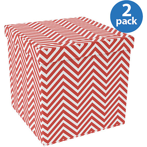 Atlantic Collapsible Ottoman 2-Pack, Multiple Colors