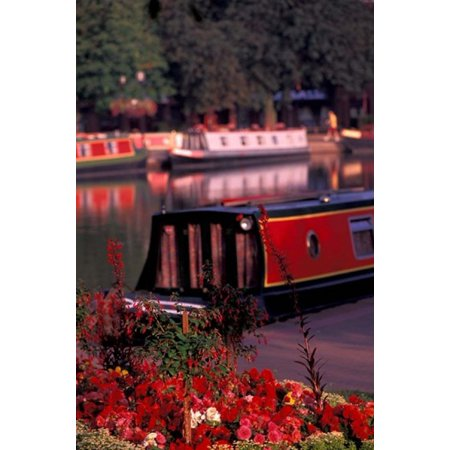 Basin Linking Canal to River Avon Stratford-on-Avon England Stretched Canvas - Nik Wheeler  DanitaDelimont (24 x (Toys To Avoid For Ages 3 5)