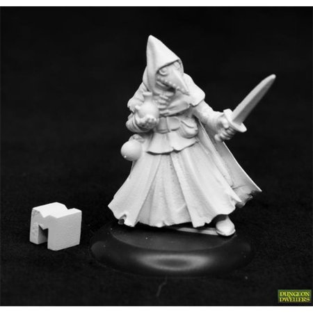 Reaper Miniatures REM07024 Dungeon Dwellers Brother Lazarus Plague Doctor Miniature Dungeon Dweller Props Wall