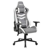 Techni Sport TS-83 Ergonomic High Back Racer Style PC Gaming Chair, Grey/White