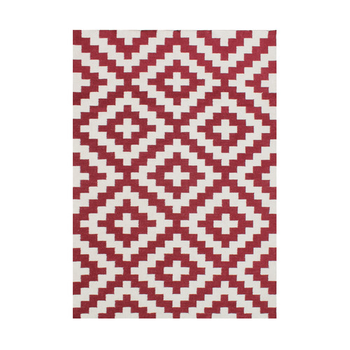 Wildon Home  Andromaca  Hand-Tufted Red Area Rug