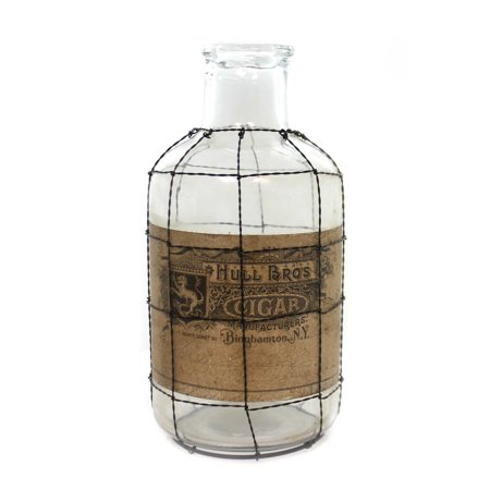 Halloween GLASS BOTTLE WIRE MESH CAGE SM Glass Hull Bros Cigar - Sm Halloween