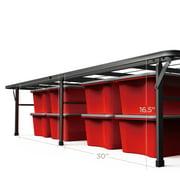 zinus 18 high profile foldable steel smart base bed frame with under bed storage - High Bed Frame