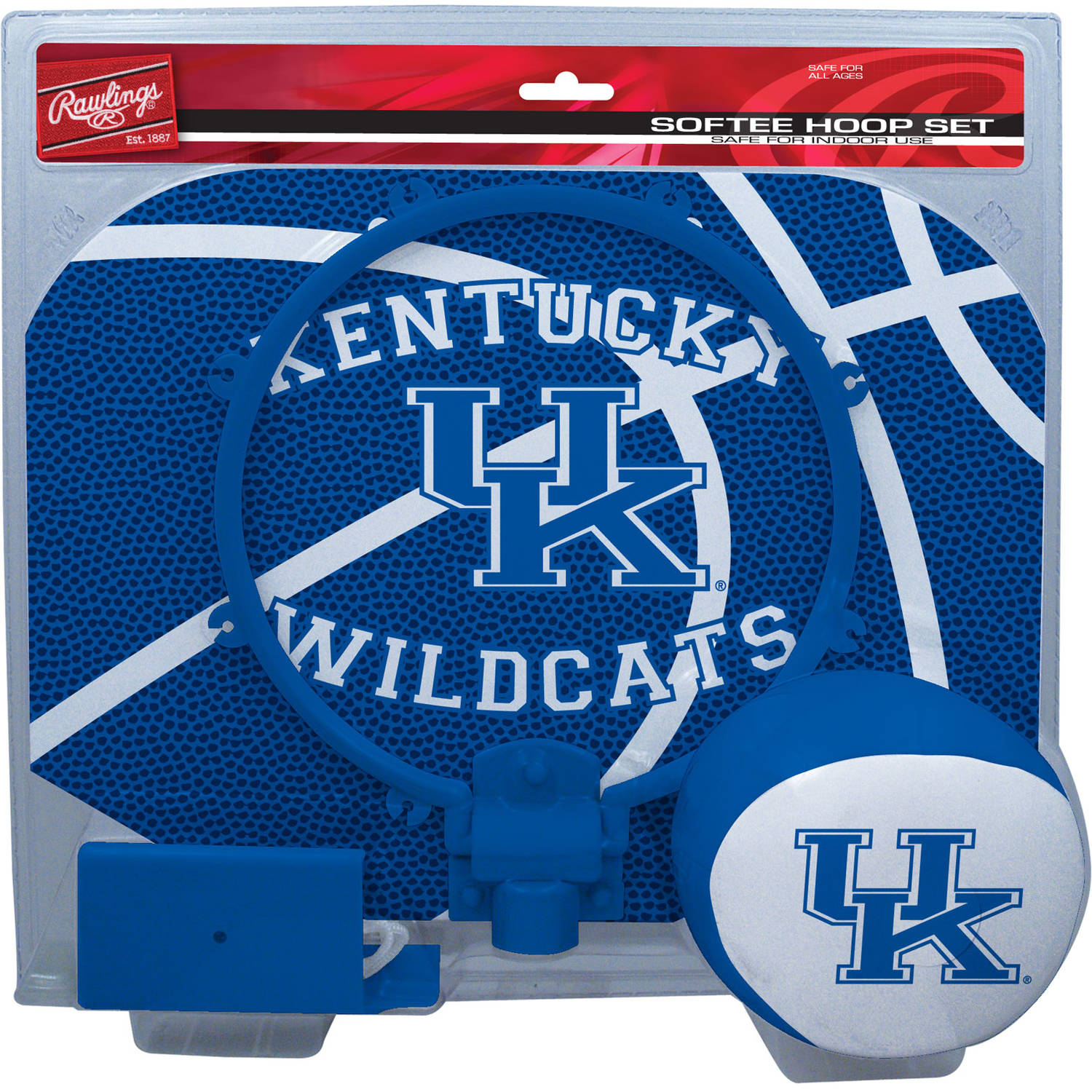 Rawlings NCAA Slam Dunk Softee Hoop Set University Of Kentucky Wildcats