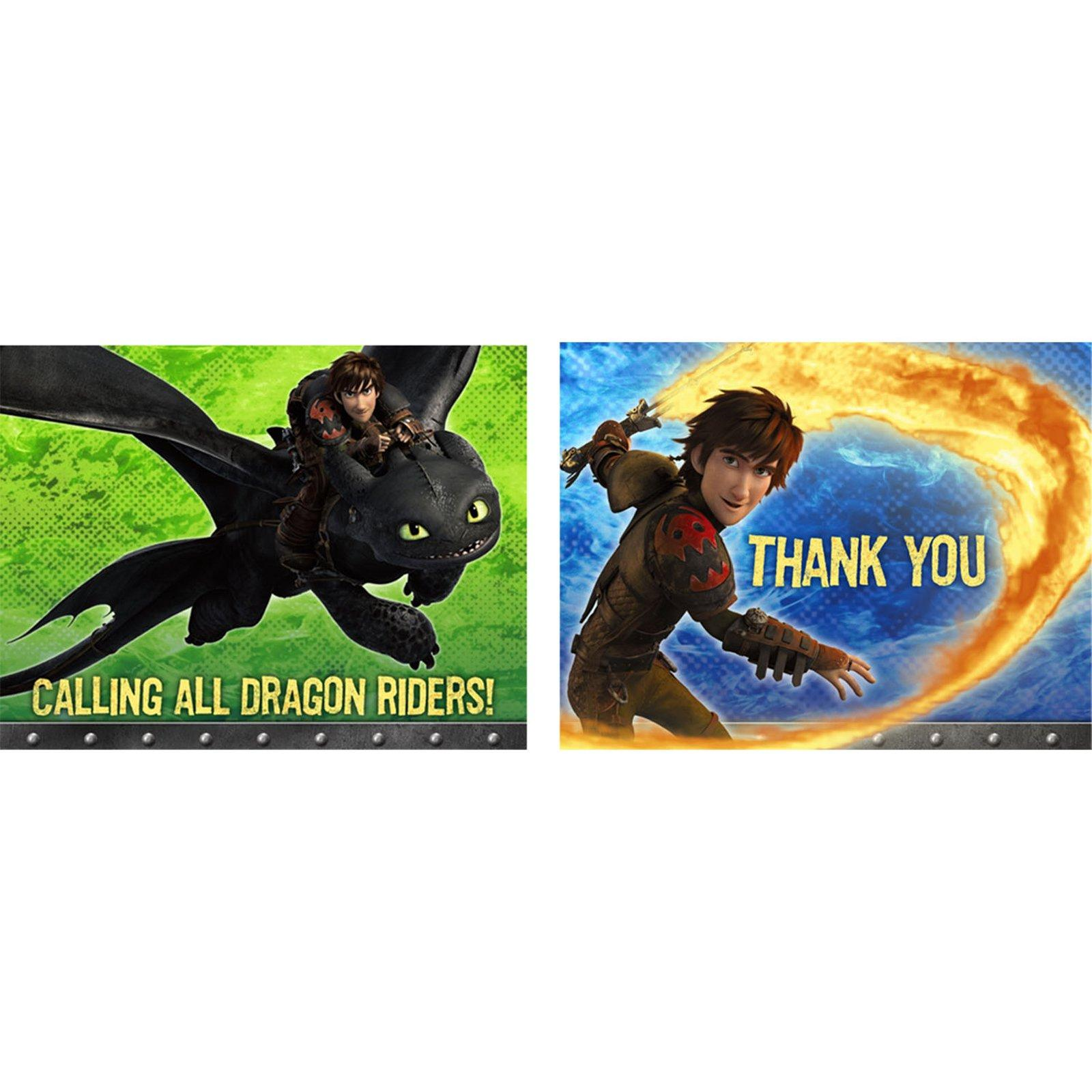 How to Train Your Dragon 2 - Invitations & Thank You Postcard Combo