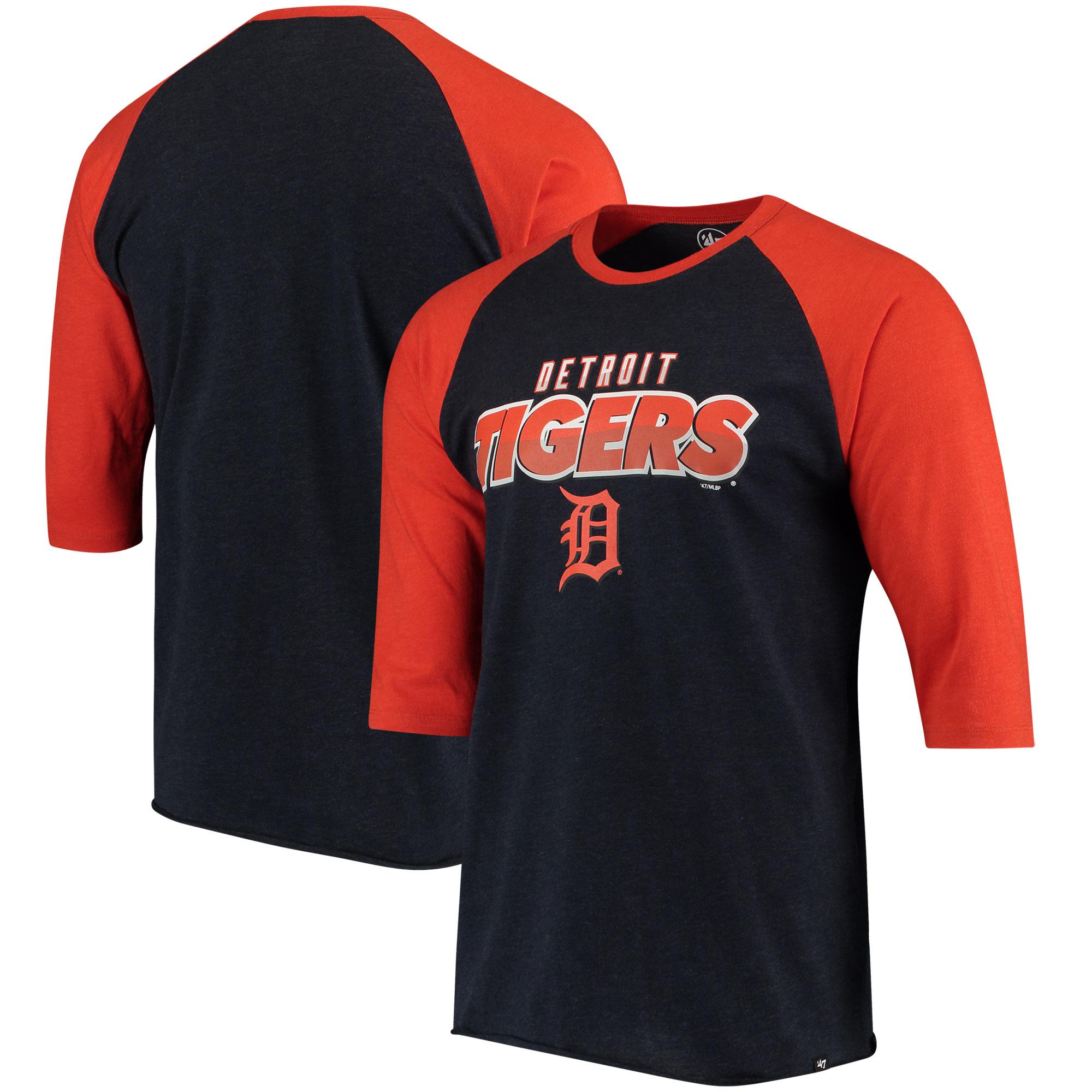 Detroit Tigers '47 Club 3/4-Sleeve Raglan T-Shirt - Navy