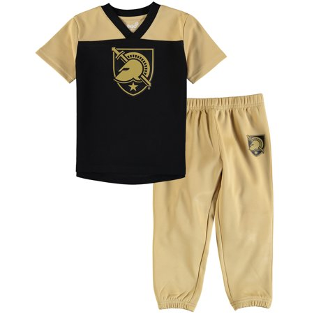 Army Black Knights Toddler Field Goal V-Neck T-Shirt and Pants Set - Black Field Goal Tee