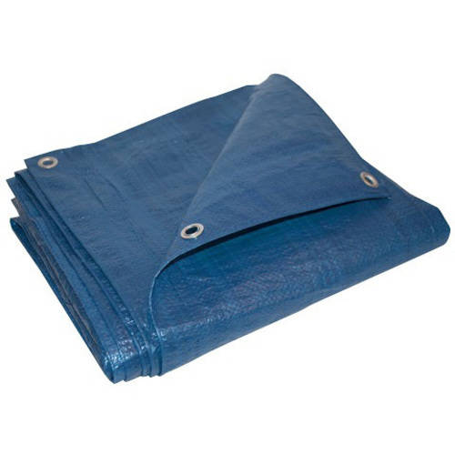 ALEKO TR12X12BL 12' x 12' Heavy-Duty Tarp Multi-Purpose All-Weather Polyethylene Tarpaulin, Blue