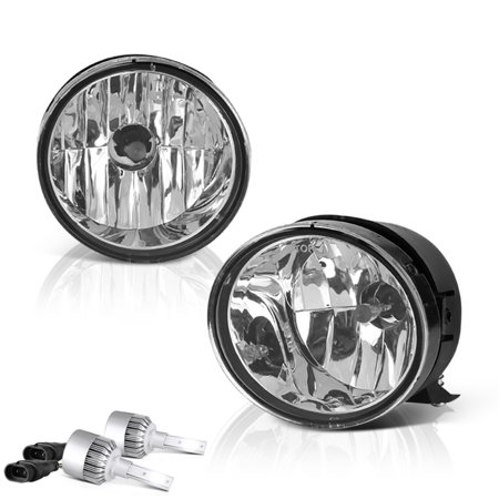 VIPMOTOZ OE-Style Front Fog Light Driving Lamp Assembly For 2004-2015 Nissan Titan & Armada - Power Switch & Universal Wiring Included, Driver & Passenger - Driving Light Cover Driver