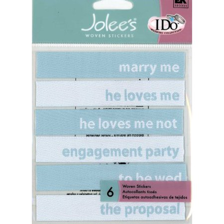 Jolee's Wedding Collection Marry Me Woven Scrapbooking Stickers