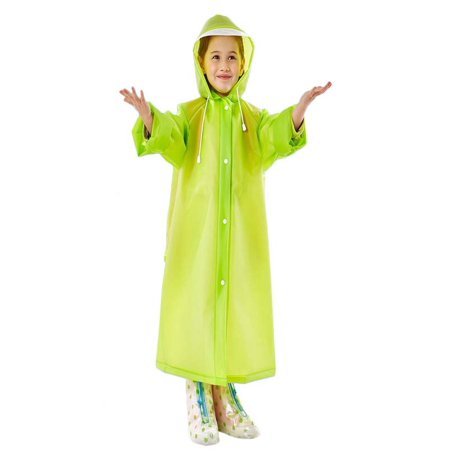 Rain Poncho for Kids, Outgeek Raincoats with Backpack Cover Rain Suit for Kids Children Boys Girls