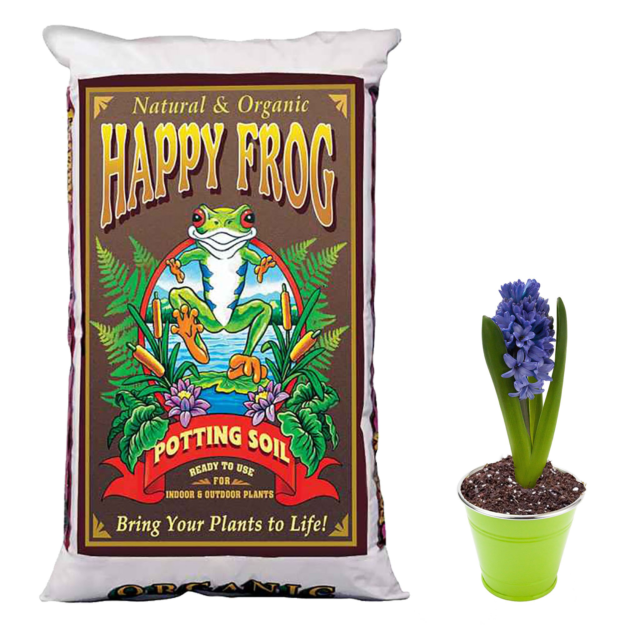 FoxFarm Happy Frog Nutrient Rich Rapid Growth Potting Soil, 4 Cu Feet | FX14081