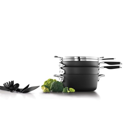 Select by Calphalon Space Saving Nonstick 14 Piece Cookware and Utensil Set