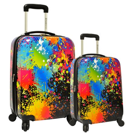 Travelers Choice 2 Piece Expandable Spinner Luggage Set