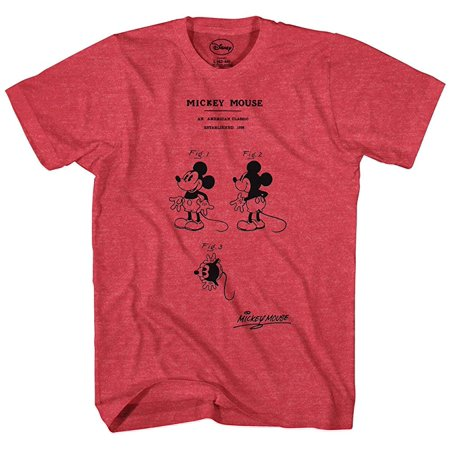 Disney Men's Mickey Mouse Diagram Of An American Classic (Character List In Of Mice And Men)