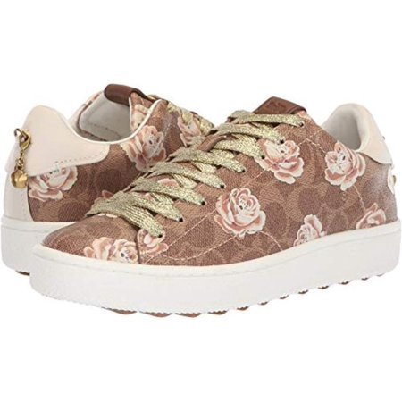 Coach Womens C101 Low Top Sneaker With Floral Print