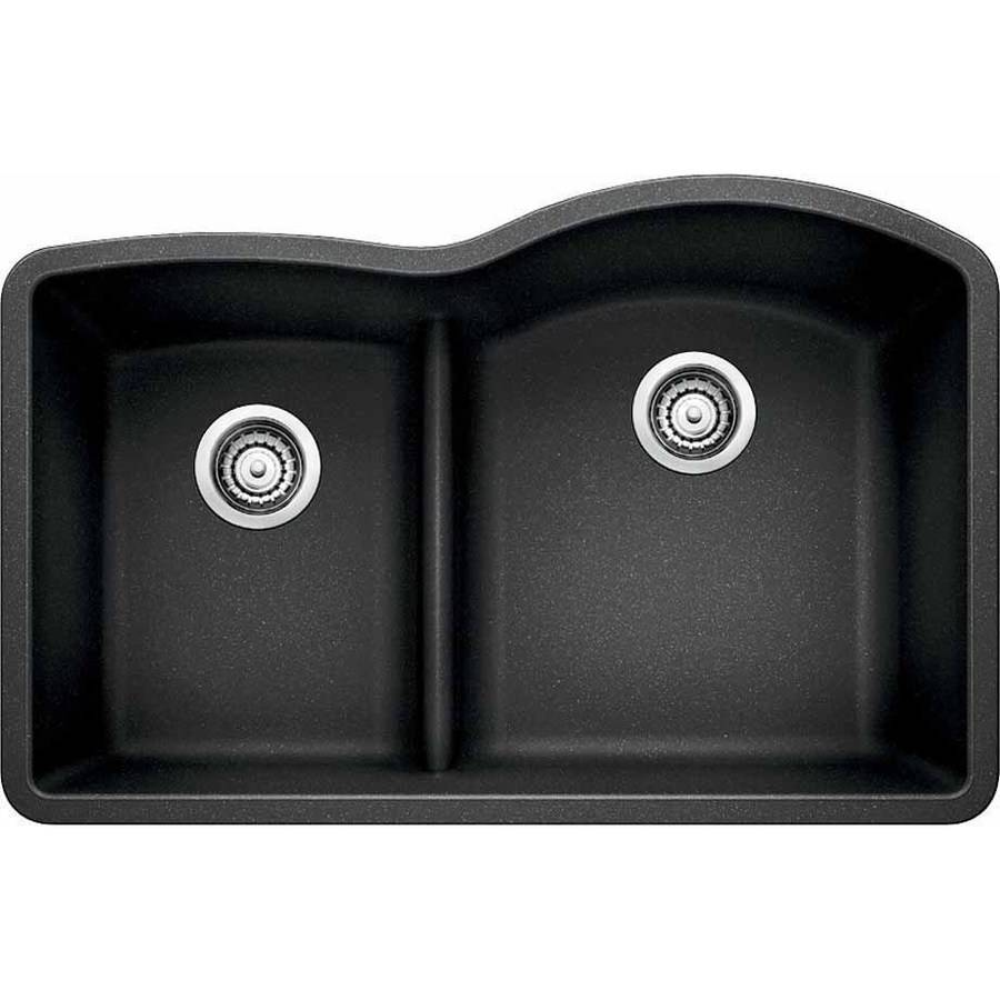 "Blanco 441609 Diamond 32"" X 20.875"" Double-Basin Granite Undermount Residential Kitchen Sink, Available in Various Colors"