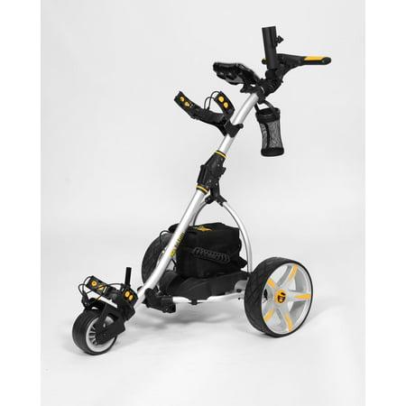 Power Caddy Golf Carts - Bat Caddy X3R SILVER Electric Golf Bag Cart Caddy w/ 12V 36Ah Battery & Remote
