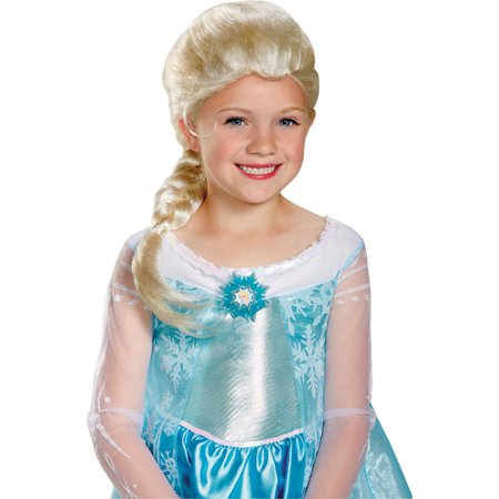 Morris costumes DG79354 Frozen Elsa Wig Child