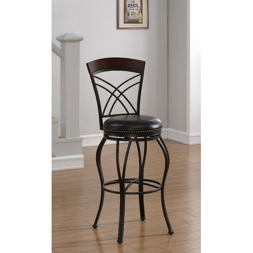American Heritage Caprice 30'' Swivel Bar Stool with Cushion