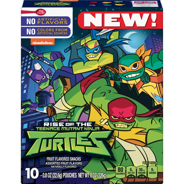Fruit Snacks Teenage Mutant Ninja Turtles Snacks 10 Pouches Walmart Com Walmart Com