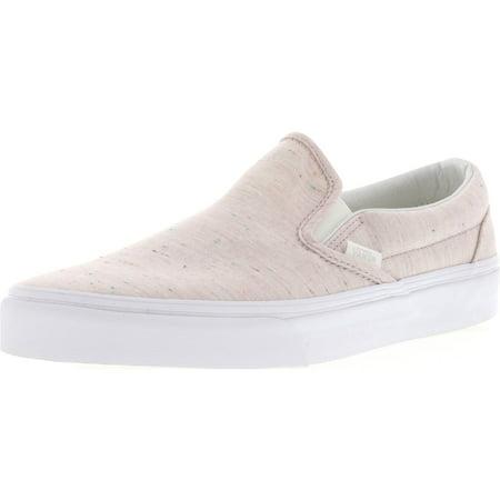 d585b34f45cb72 Vans - Vans Classic Slip-On Speckle Jersey Pink   True White Ankle-High  Canvas Skateboarding Shoe - 10M 8.5M - Walmart.com