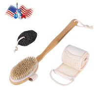 snorda Dry Brush Set To Improve Skin Care Skin Exfoliation On The Back On The Feet