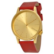Winston Gold Dial Regal Red Leather Mens Watch W2250
