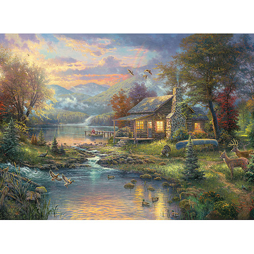 "M C G Textiles Thomas Kinkade Nature's Paradise Counted Cross Stitch Kit, 16"" x 12"", 16 Count"