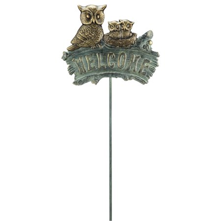 SPI Home Owl Family Welcome Garden Sign