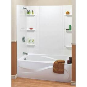 Maax 101604 000 129 5 Piece Bathtub Wall Kit 48 60 In L X 31 In W X 59 In H Polystyrene Walmart Com Walmart Com