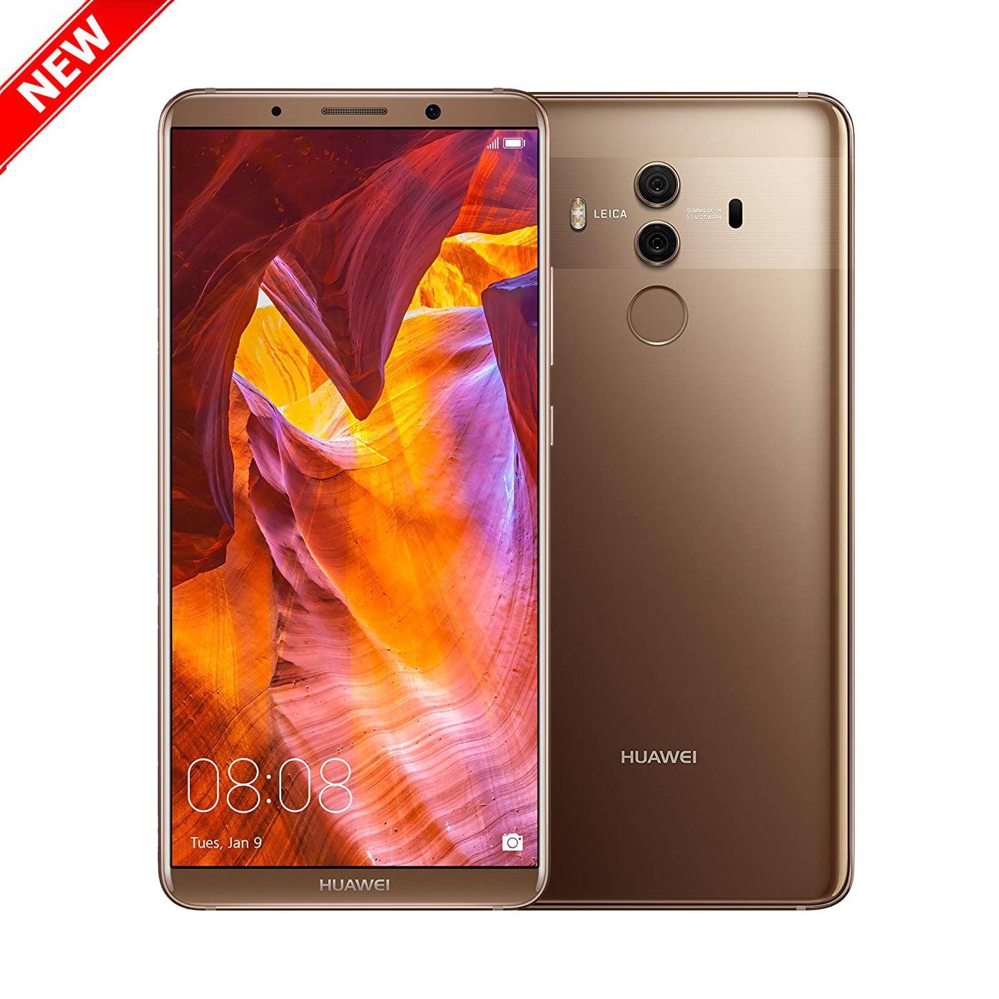 "New Mate 10 Pro 128GB BLA-A09 GSM Unlocked 4G LTE 6"" AMOLED Display 6GB RAM Dual 12MP + 20MP Camera Smartphone by Huawei - Mocha Brown - USA WARRANTY"