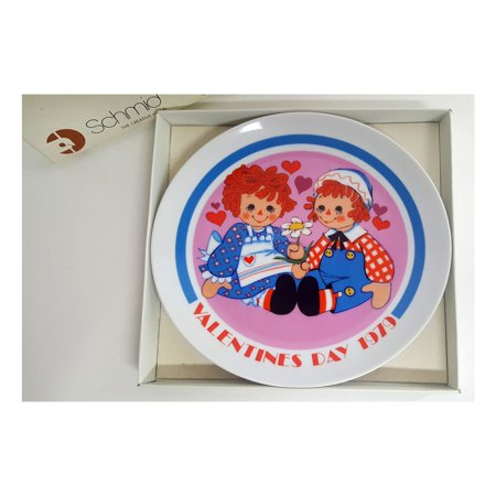 RAGGEDY ANN & ANDY Limited Edition VALENTINE'S DAY 1979 Collector Plate (7 3/4