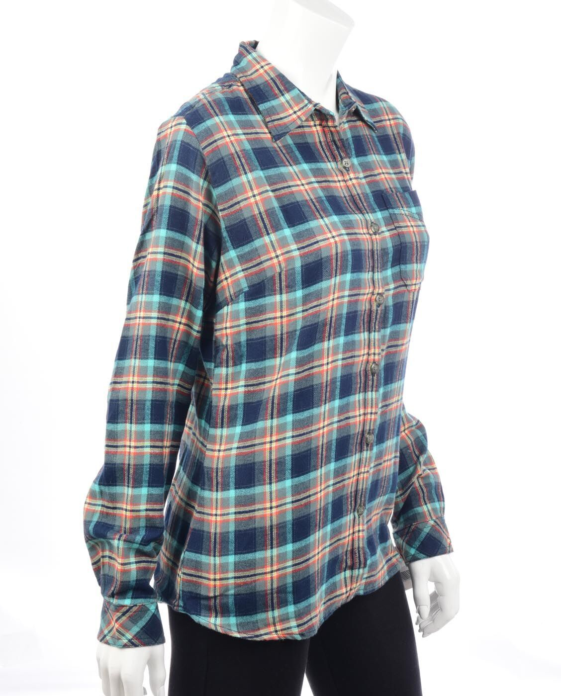 Women's Long Sleeve Plaid Flannel Shirt